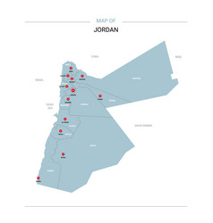 jordan map with red pin vector image