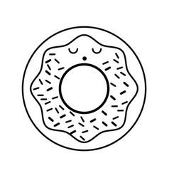 Kawaii donut cartoon vector
