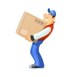 Loader with box delivery vector