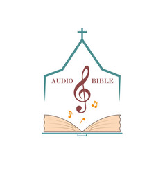 Logo audio bible vector