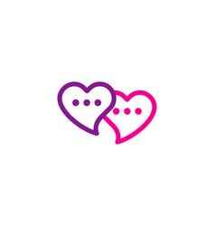 love chat logo icon design vector image