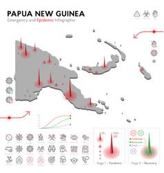 Map papua new guinea epidemic and quarantine vector