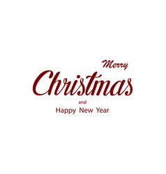 merry christmas typography christmas card vector image