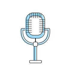 Microphone to sing music in performance vector