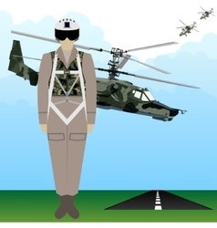 Military uniform force pilot-1 vector