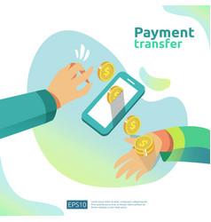 Money transfer concept for e-commerce market vector