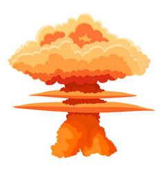 Nuclear explosion icon cartoon style vector