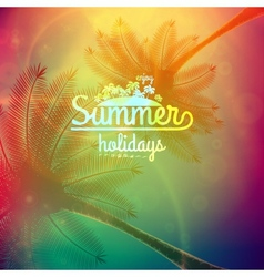 Palm Tree Sunset typography poster vector image