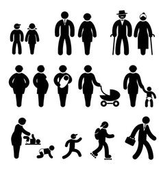 people age vector image vector image