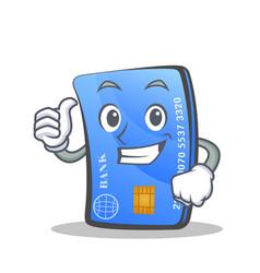 Proud credit card character cartoon vector