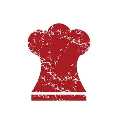 Red grunge chef hat logo vector