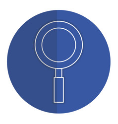 Research magnifying glass vector