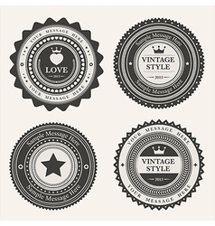 Set blank retro vintage badges and labels vector