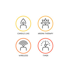 set electric candle icons in different vector image