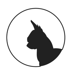 Silhouette of a dog head chihuahua vector