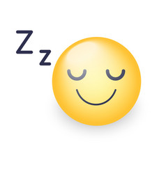 Sleeping face sleeping emoticon mood with vector