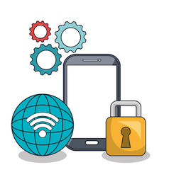 smartphone icon digital technology isolated vector image
