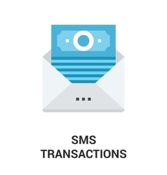 Sms transactions icon concept vector