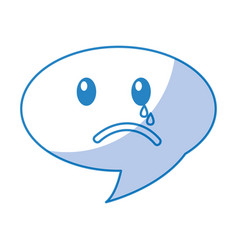 Speech bubble crying comic character vector
