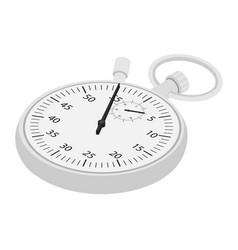 stopwatch icon isometric view vector image