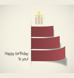 stylish birthday card vector image