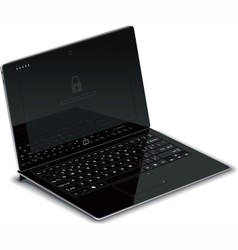 Tablet Left Side View with Keyboard Dock vector image