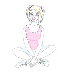 teenager girl vector image