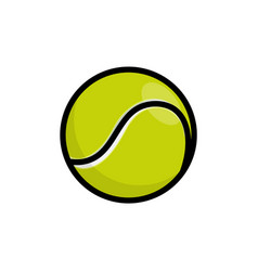 tennis isolated ball icon tennis line ball vector image
