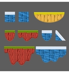 Textures for Platformers Collection vector