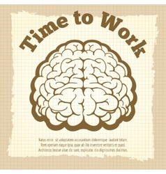 Time to work vintage poster vector