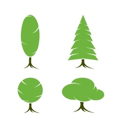 Tree symbols or icon vector image