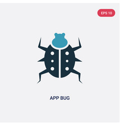 two color app bug icon from animals concept vector image