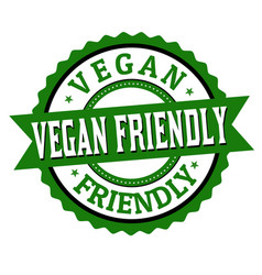 Vegan friendly label or sticker vector