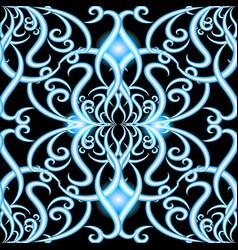 vintage damask floral 3d seamless pattern vector image