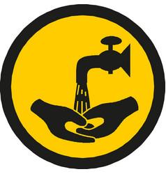 Wash hands sign warning sign vector