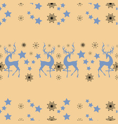 Winter deers greeting card poster holiday vector