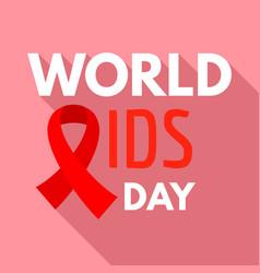 world aids day illness logo set flat style vector image