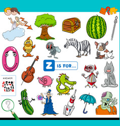 z is for educational game for children vector image