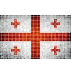 Abstract mosaic flag of Georgia vector image vector image