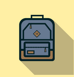 backpack icon flat vector image vector image