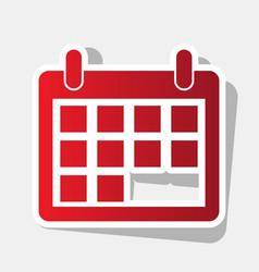calendar sign new year vector image