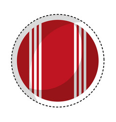 cricket ball isolated icon vector image vector image
