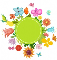 flower card vector image vector image