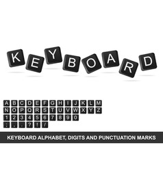 keyboard alphabet vector image vector image