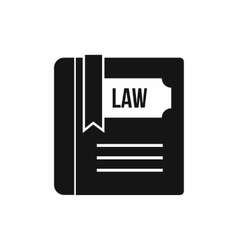 Law book icon simple style vector image