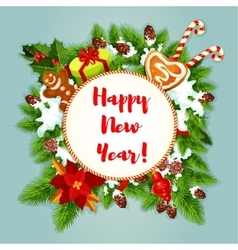 New year greeting card or poster vector