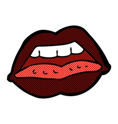 comic cartoon sexy lips symbol vector image vector image