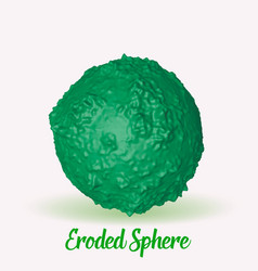 Green eroded 3d sphere abstract vector