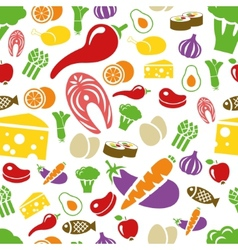 healthy food seamless pattern vector image vector image