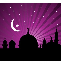 islamic greeting card vector image